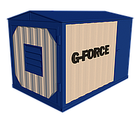 Блок контейнер металлический для ДГУ 4500х2300х2500