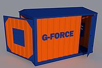 Блок контейнер металлический для ДГУ 5000х2300х2700
