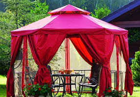 Беседка шатер для дачи и сада квадратная