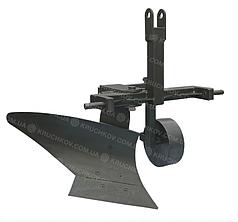 Плуг однокорпусный для минитрактора, усиленный Премиум (захват 25 см)