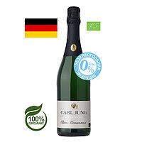 """Шампанское безалкогольное Carl Jung """"Bio Mousseux"""", органик, веган, белое, полусухое 0,75л"""