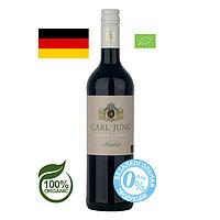 Вино безалкогольное Carl Jung БИО Merlot органик, веган, красное, полусухое 0,75л