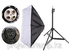 Софтбокс 50*70см для ламп E27 + стойка 1,9м