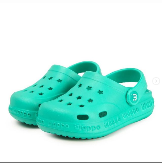 Кроксы детские, цвет зеленый