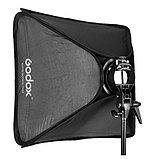 Софтбокс (рассеиватель) Godox 60х60 SFUV6060 Bowens для накамерных вспышек, фото 5