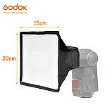 Софтбокс (рассеиватель) Godox SB2030 для накамерных вспышек 20х30см, универсальный, фото 4