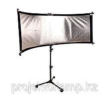 Полукруглый отражатель(рефлектор) 60х150 см. U-type + стойка