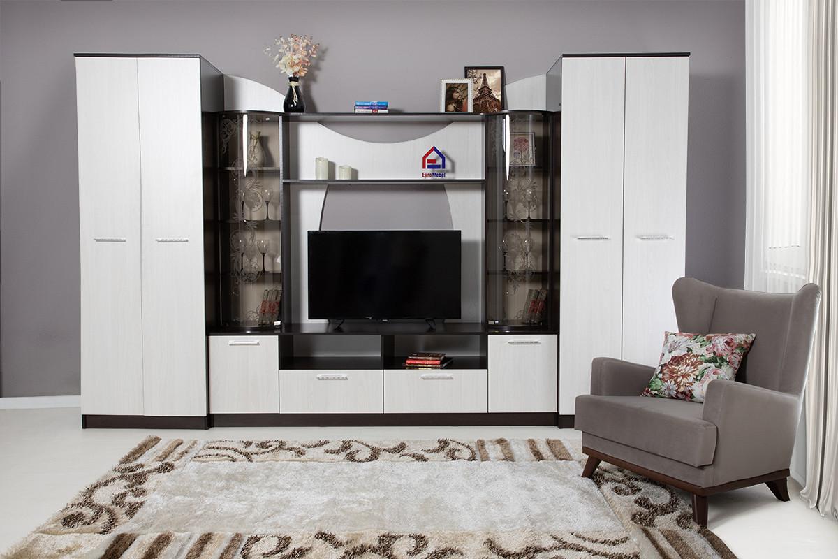 Комплект мебели для гостиной Гостиная 8, Ясень Анкор светлый, СВ Мебель(Россия)