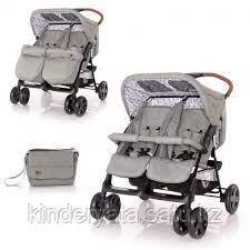 Прогулочная коляска для двойни Bertoni Twin Серый / Grey LIGHTHOUSE 2084