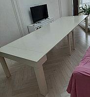 Стол-консоль 3,5м белый ясень