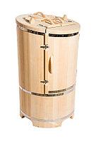 Кедровая фитобочка, Круглая Со скосом, 130*78*/2,5 см, PREMIUM, фото 1