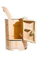 Кедровая фитобочка, Овальная 130*78*100/2,5 см, PREMIUM, фото 1