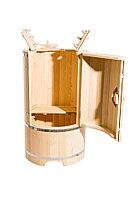 Кедровая фитобочка, Круглая, Гигант, 130*100/2,5 см, PREMIUM, фото 1