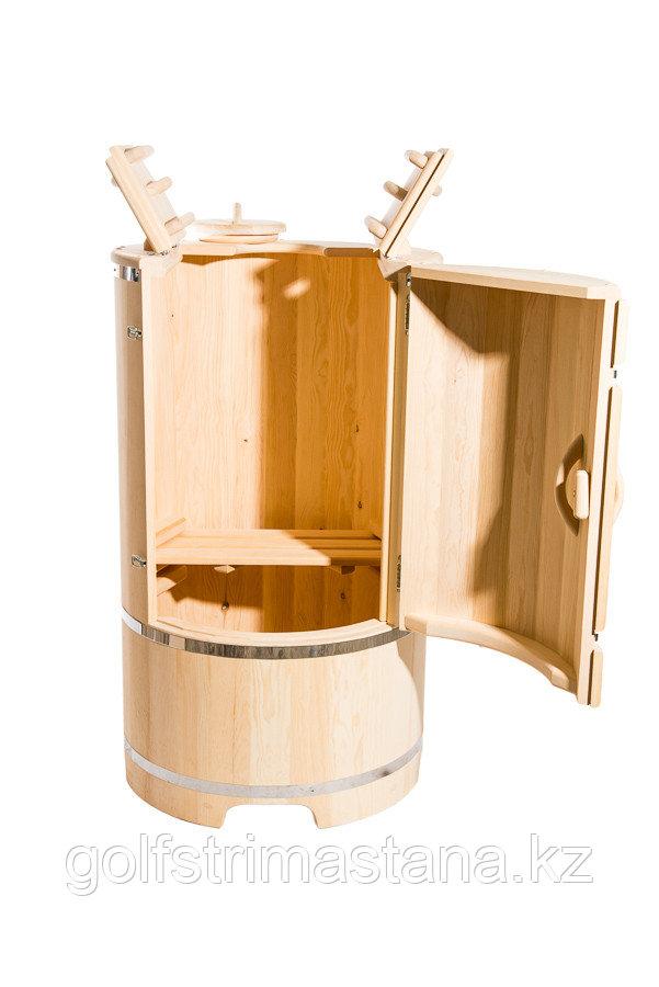 Кедровая фитобочка, Круглая, Гигант, 130*100/4 см, PREMIUM