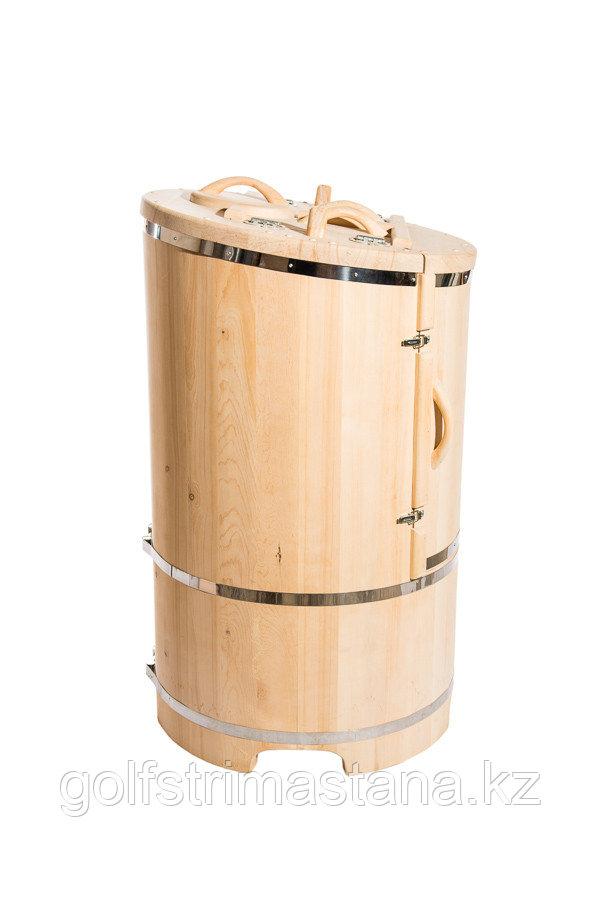 Кедровая фитобочка, Круглая со скосом, Гигант 130*100/2,5 см, PREMIUM