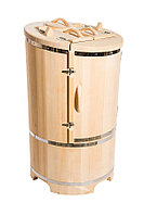 Фитобочка с парогенератором, Круглая Со скосом, 130*78*/2,5 см, PREMIUM