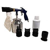 Forsage Пистолет пескоструйный пневматический со сменными насадками и песком(бачок-1л,сопло-3.2,давление