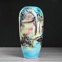 """Ваза напольная """"Аурика"""", природа, голубая, 44 см, микс, керамика"""