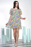 Женское летнее шифоновое платье Alani Collection 1396.1 44р.