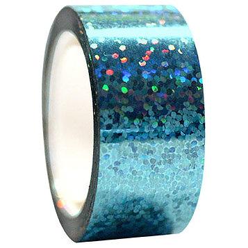 Обмотка для гимнастических булав и обручей Diamond клейкая, цвет голубой металлик