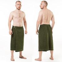 Килт(юбка) муж. махр. артКТР-1. 70Х150 темно-зеленый, трикотаж, 190г/м, хл80, пэ20