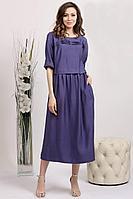 Женское летнее из вискозы фиолетовое платье Achosa 3688 фиолетовый 44р.