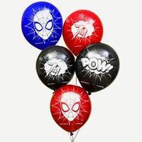 Воздушные шары 'POW', Человек-паук (набор 5 шт) 12 дюйм