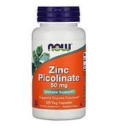 Цинка пиколинат, 50 мг, 120 капсул, Now Foods
