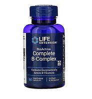 Б комплекс, полный биоактивный комплекс витаминов группы B Life Extension, 60 вегетарианских капсул