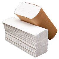 Бумажные полотенца Z сложения 21х23см двухслойные 100% целлюлозы