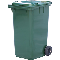 Мусорный контейнер п/э (240л), зеленый