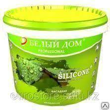 SILICONE+ Фасадная Силиконовая самоочищающаяся фасадная краска 10 литров