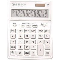 Калькулятор настольный Citizen 12 разрядов, двойное питание, 155*204*33мм, белый