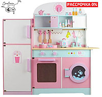 Детская игровая деревянная кухня 101х101