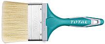 Кисть плоская 75мм, пластиковая обрезиненная ручка TOTAL арт.THT84036