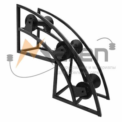 РНУ 3/80 Ролик кабельный угловой направляющий для кабеля 80мм диаметром