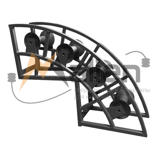 РНУ 4/80 Ролик кабельный угловой направляющий для кабеля 80мм диаметром