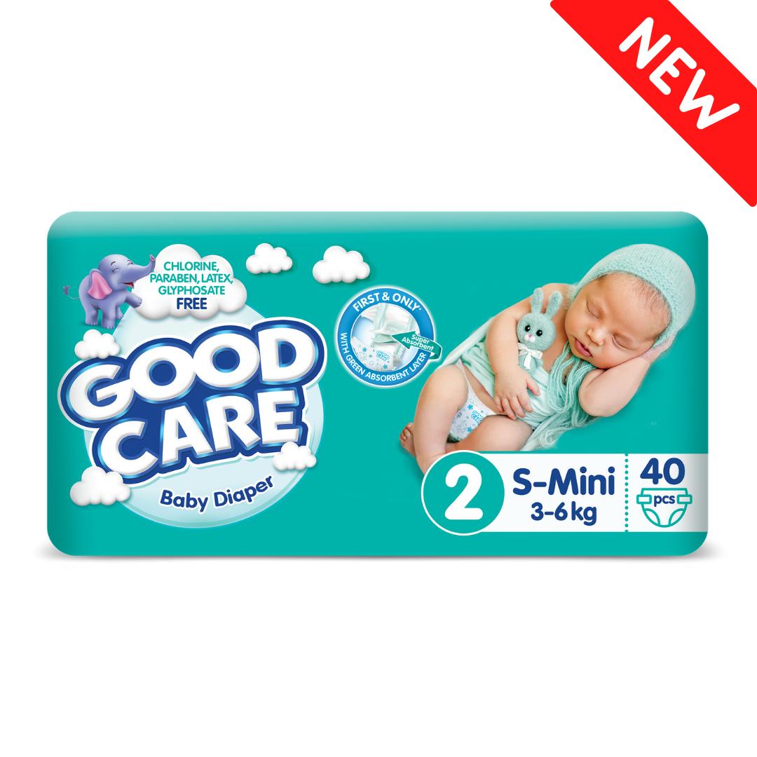 Детские Подгузники GOODCARE №2 (3-6 кг), 40шт
