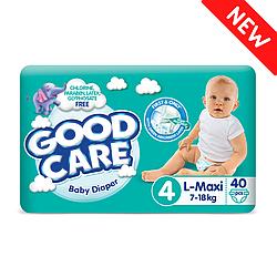 Детские Подгузники GOODCARE №4 (7-18 кг), 40шт