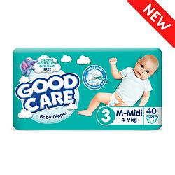 Детские Подгузники GOODCARE №3 (4-9 кг), 40шт