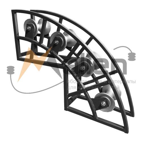 РНУ 4/120 AL Ролик кабельный угловой направляющий c алюминиевой катушкой