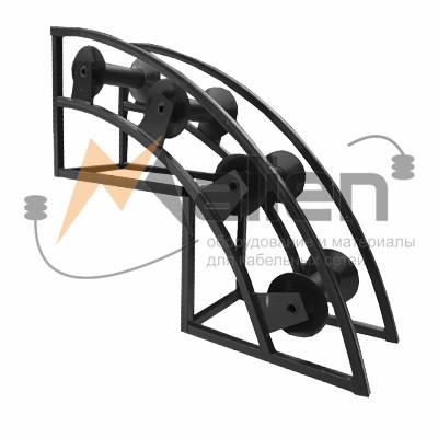 РНУ 4/120 Ролик кабельный угловой направляющий для кабеля 120мм диаметром