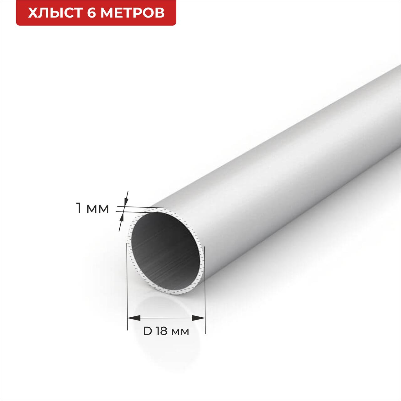 Труба круглая алюминиевая 18*1 6м