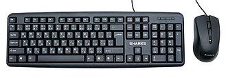 Клавиатура и мышь проводная SHARKS SR-X1