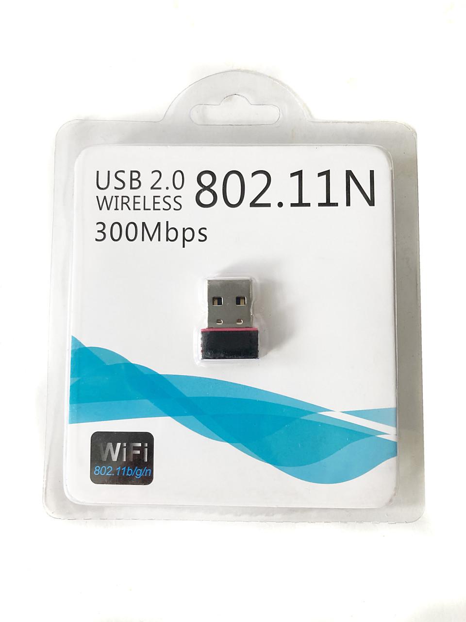 Адаптер беспроводной USB Wi-Fi 802.11N, поддержка стандартов b/g/n, мини ресивер, для компьютера и ноутбука