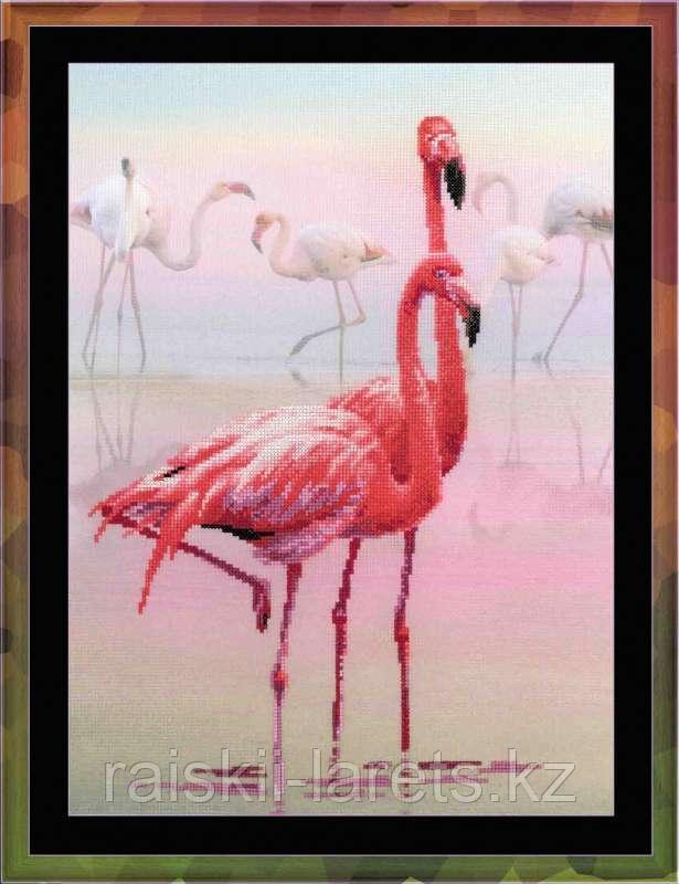 """Набор для вышивания крестом РИОЛИС 0012 РТ """"Розовый фламинго"""""""