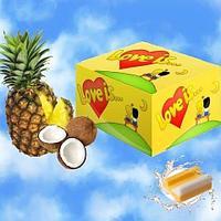 Жевательная резинка Love is… (кокос-ананас) блок 100 шт