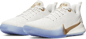 Баскетбольные кроссовки Nike Kobe Mamba Focus White\Gold