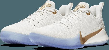 Баскетбольные кроссовки Nike Kobe Mamba Focus White\Gold, фото 2