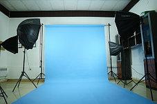 Голубой фон Бумажный в рулоне 11м Х 2,72м от Kelly Photo США, фото 2